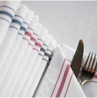 Riegel Cotton Bistro Stripe Napkin